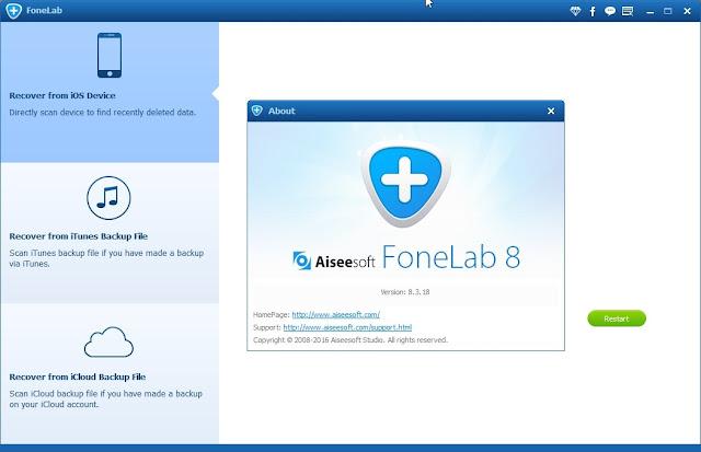 Download FoneLab iPhone Data Recovery Gratis Serial Key