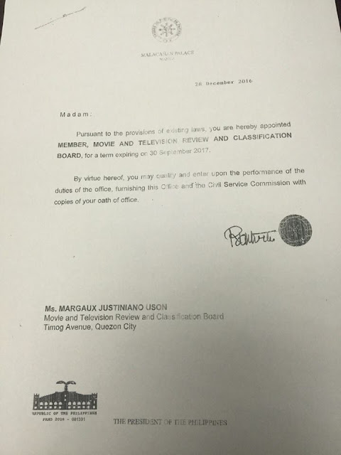 THIS JUST IN: Mocha Uson Appointed As Board Member of the MTRCB!