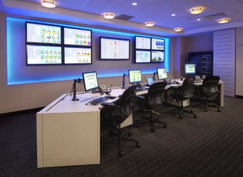 (NOC) Network Operations Center Office: NOC Room Furniture ...