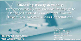 Title Page for Presentation on Hybrid Flexible Pedagogy