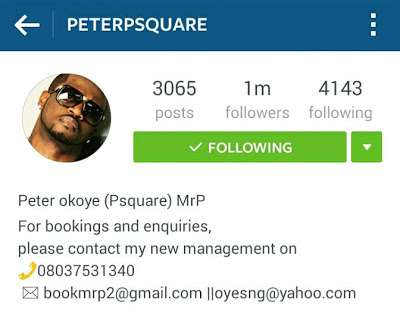 NO MORE P-Square, The Legendary Duo Breakup After 19 Years!