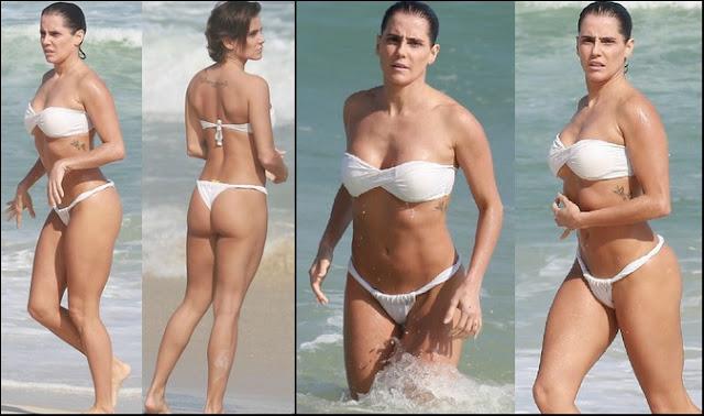 Deborah Secco biquíni na praia