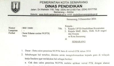 Syarat Penerima Dan Surat Edaran Usulan NUPTK Baru 2017