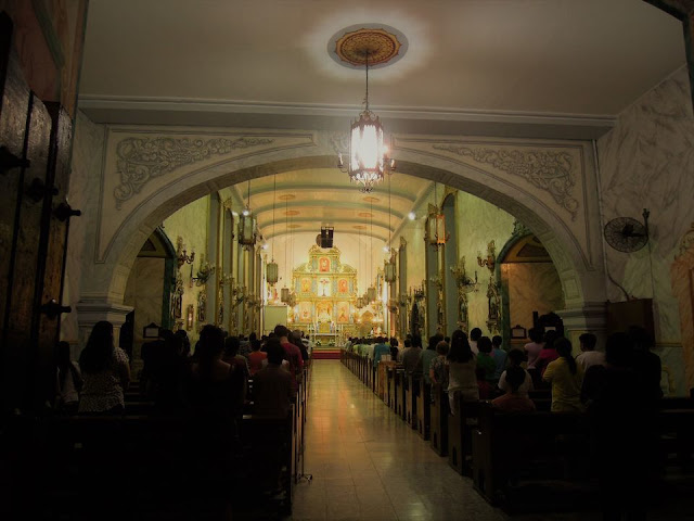Inside Sts. Peter and Paul Church in Poblacion, Makati