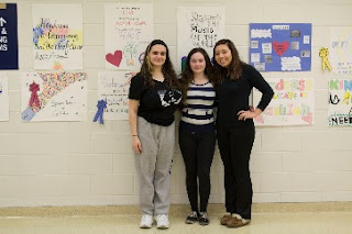 (from left) Rosa Martinez, Hanna Goudreau and Merna Amaya