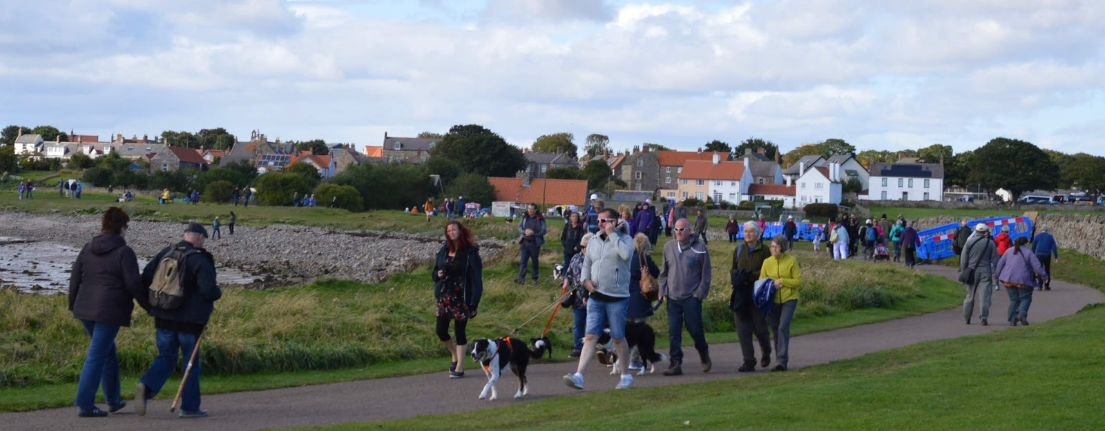 The Holy Island of Lindisfarne, Northumberland - what to see and do during a half day visit - walk to lindisfarne castle