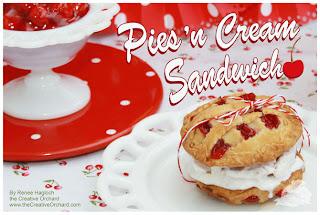 Cherry Pies 'n Cream Sandwiches