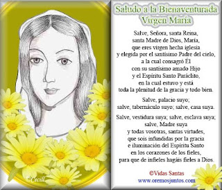 Resultado de imagen para Oracion a María para cada sábado