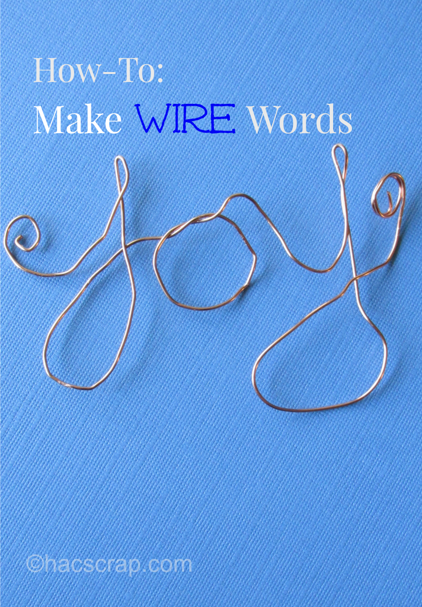 Making Simple Wire Word Art