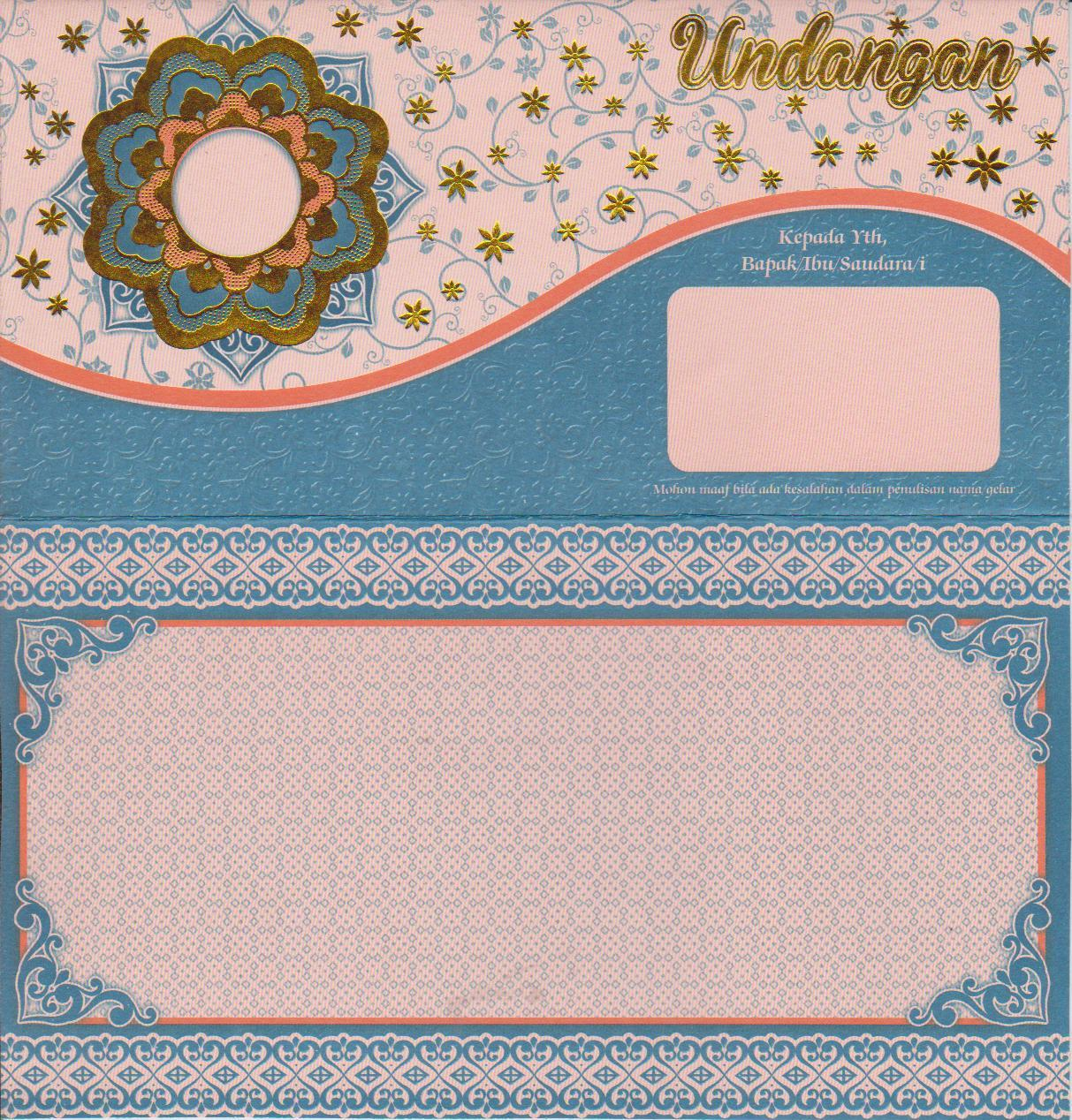 ... contoh desain kartu undangan pernikahan unik dan murah gratis terbaru