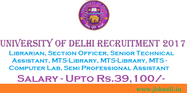 vacancy in delhi university colleges, Non-Teaching jobs in Delhi, govt jobs in delhi