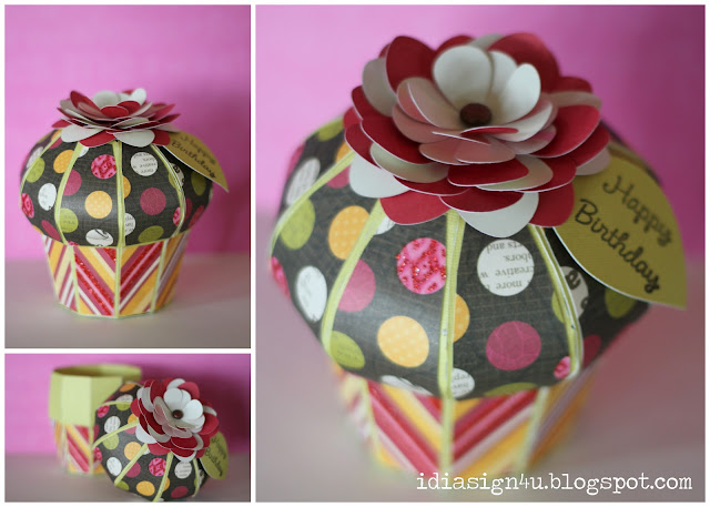 3D Paper Cupcake Treat Boxes | SVGCuts by ilovedoingallthingscrafty.com