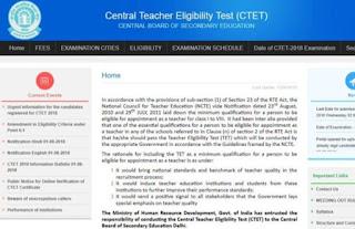 CBSE CTET 2019 Schedule, Exam Date
