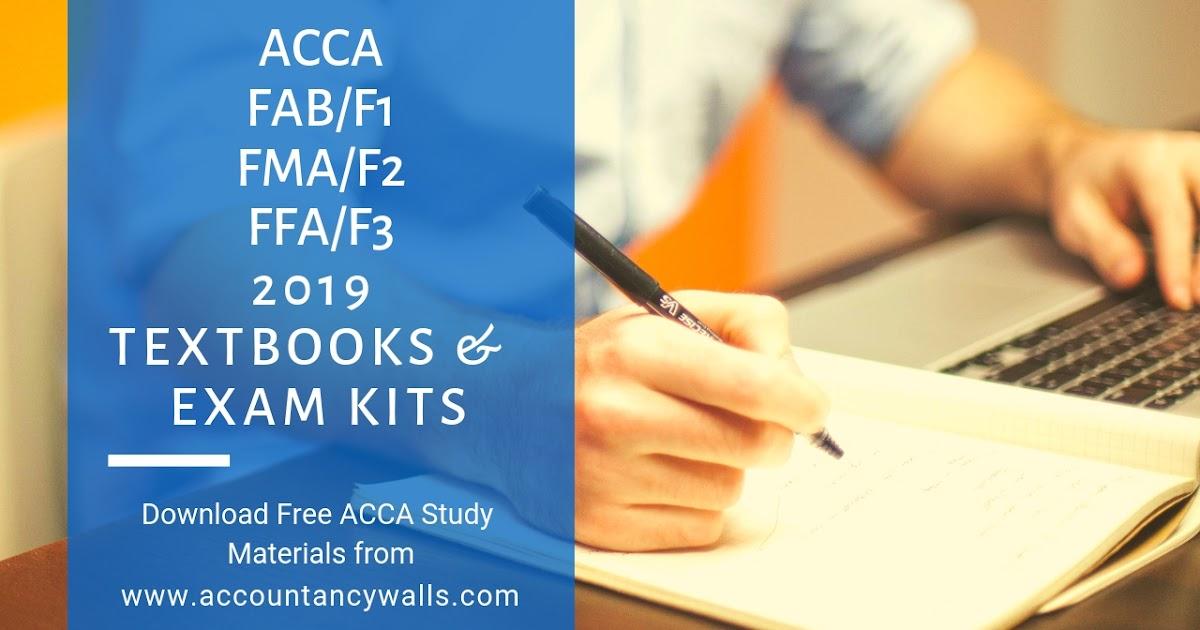 ACCA FFA FMA FAB Books and Kits 2019 - FREE ACCOUNTANCY