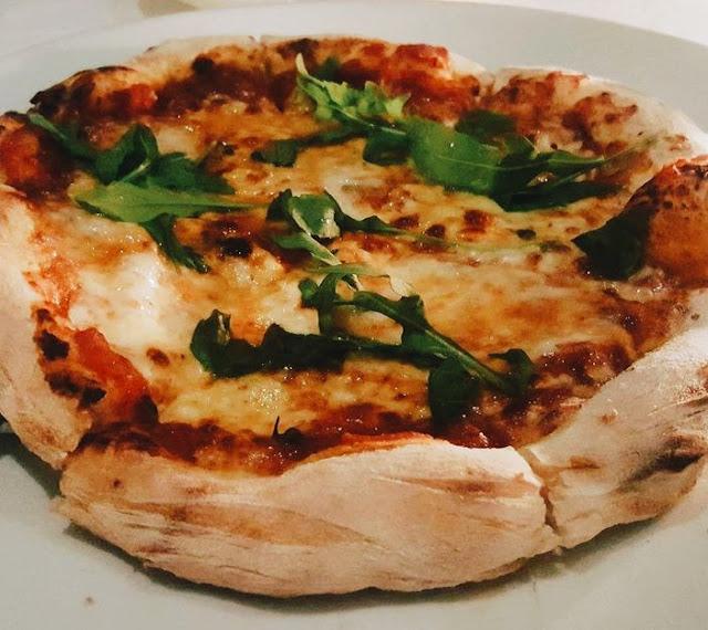 Pizza at Blackbird Restaurant