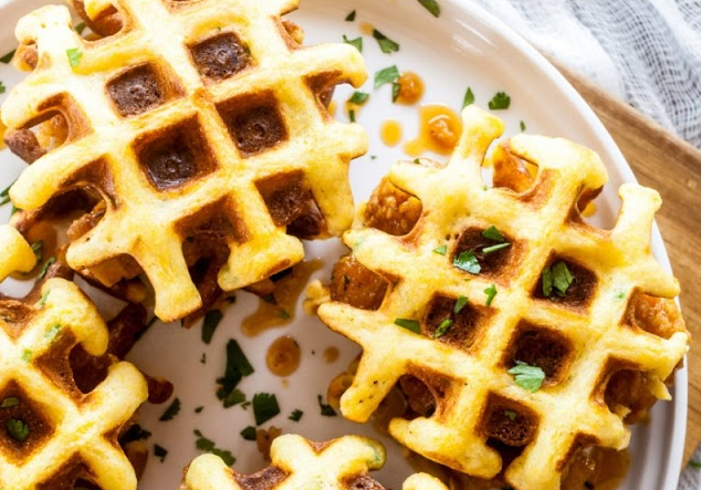 Chipotle Honey Chicken and Waffle Sliders
