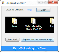 ClipBoard Manager Source Code