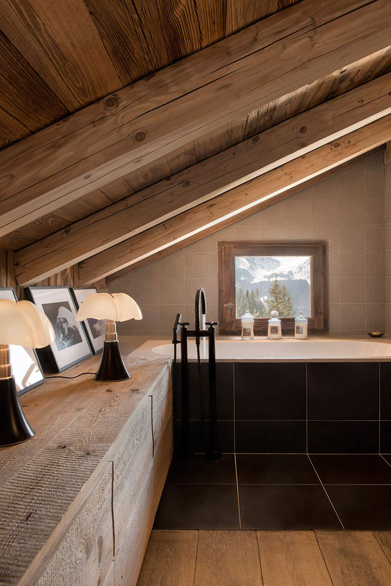 Cabaña en los Alpes