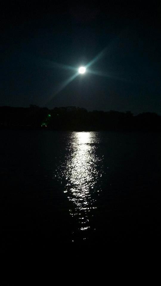 full moon on water