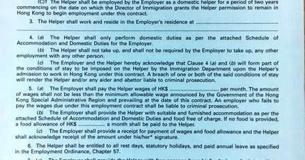 The sun hk immigration still accepts green employment for B b contract