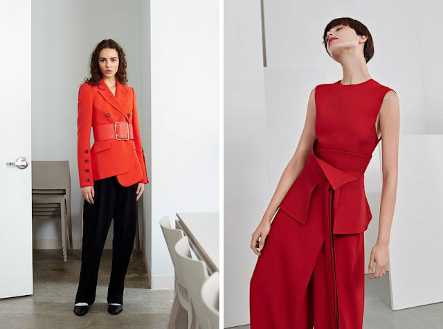 Авангардная одежда красного цвета