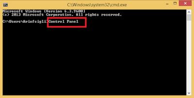 """""""Cara membuka control panel dengan cmd"""""""