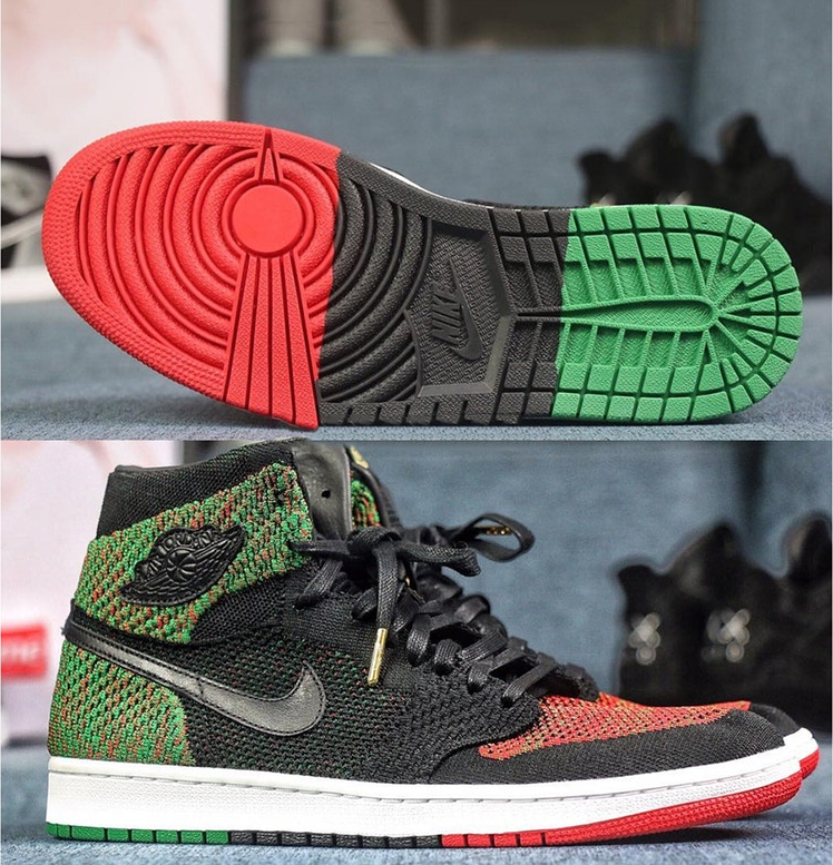 cd3fc535f503 Here s a first look at a special BHM Air Jordan 1 Flyknit model. Stepping  far away from its usual OG colorways