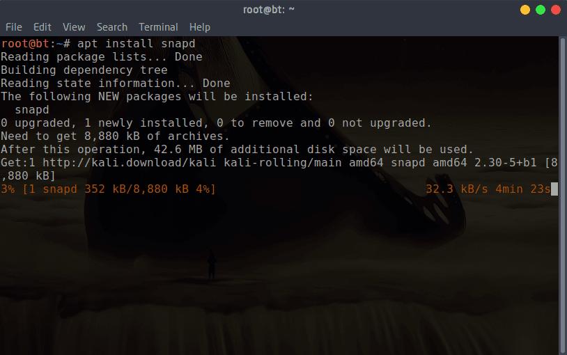 تثبيت مدير الحزم Synaptic و snap على الكالي لينكس