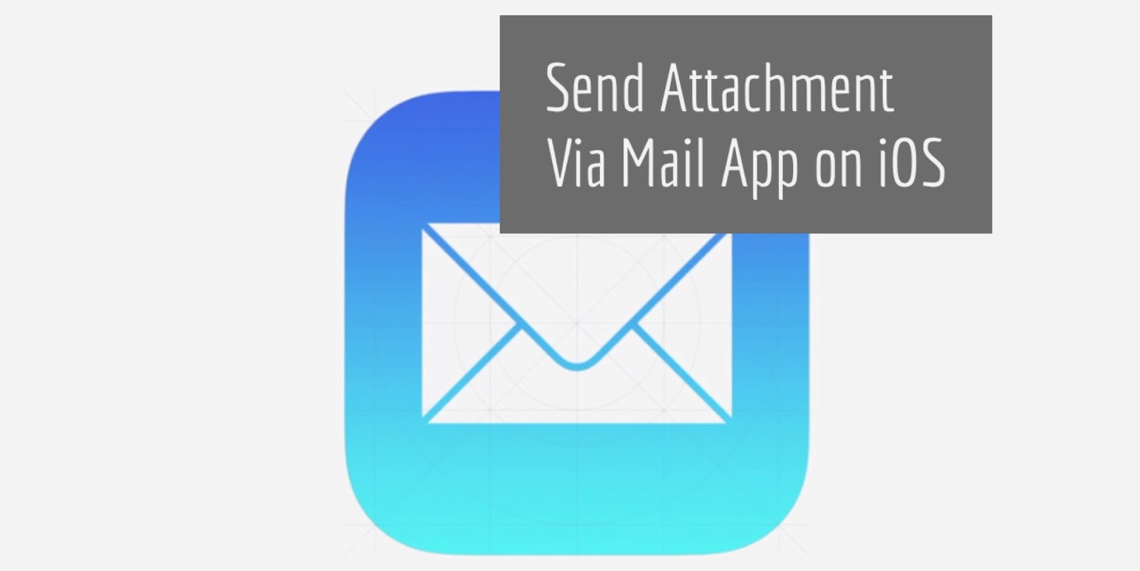 Your iPhone gives you two ways to send attachments via mail app.