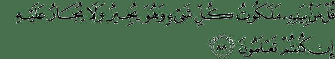 Surat Al Mu'minun ayat 88