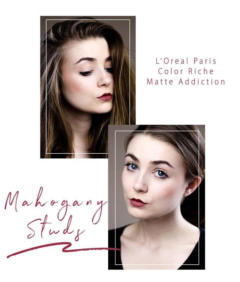 Loreal Paris Review Swatcg Color-Riche-Matte Addiction Nr 636 Mahogany Studs Bloggerin Beautyblogger Germanblogger Duesseldorf Little Emma -