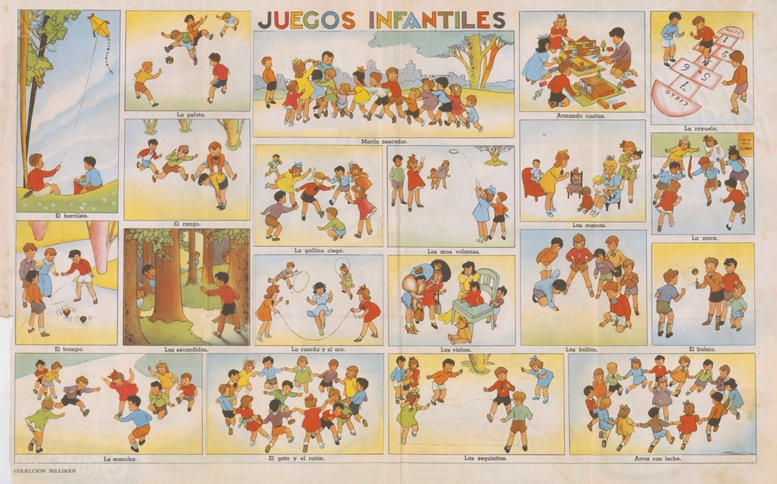 Láminas Para Colorear Juegos Tradicionales: Itinerarios Lúdicos: JUEGOS DEL PASADO Y DEL PRESENTE