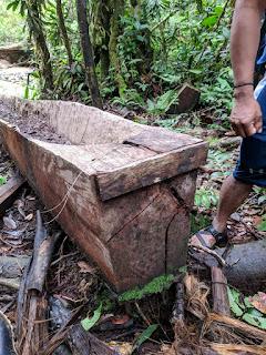 dugout canoe transom, el Oriente, Ecuador