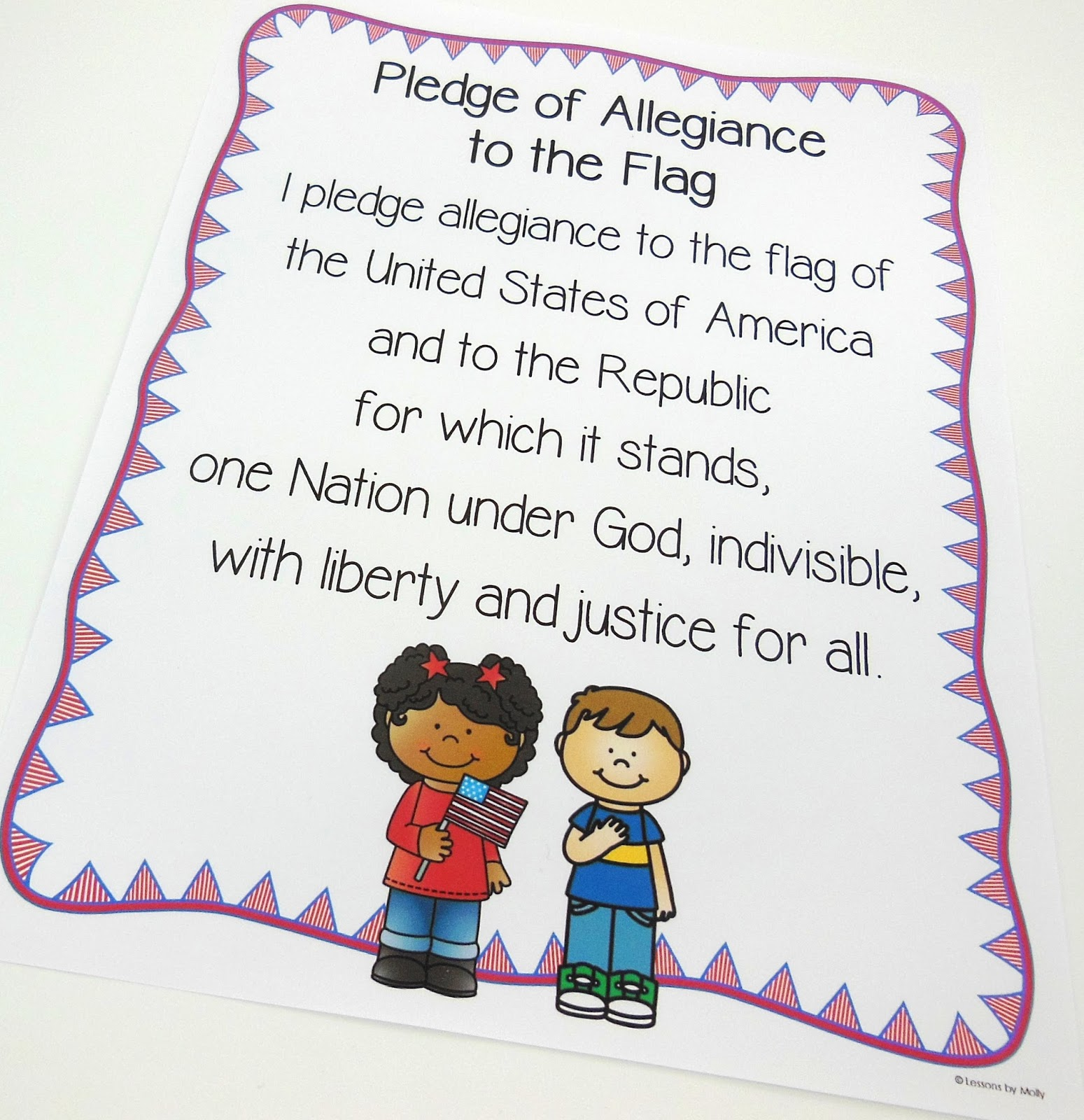 Lessons By Molly Pledge Of Allegiance Freebie And Civics