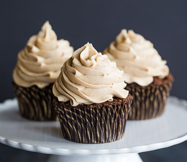 Butter Cake Cupcakes With Sticky Fudge Frosting