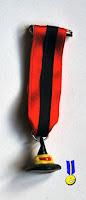Foto medalla de un gorro negro de bruja