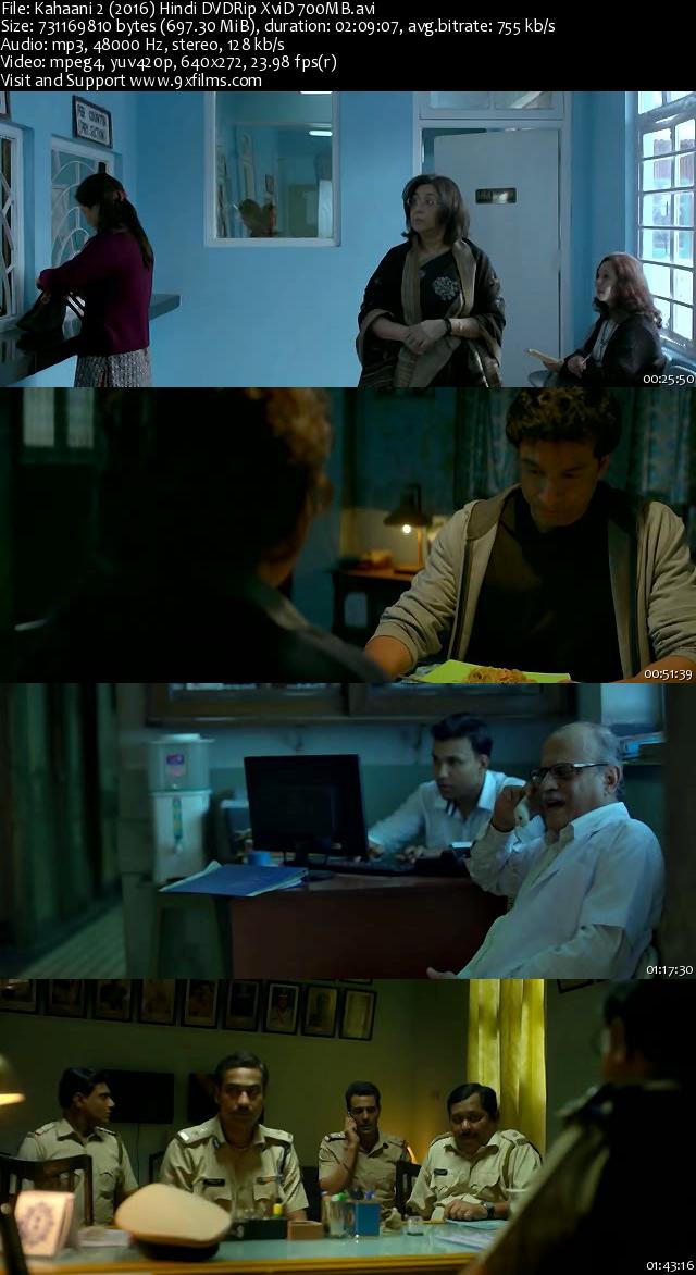 Kahaani 2 2016 DVDRip Hindi 700MB