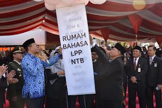 Gubernur NTB Launching Rumah Bahasa NTB