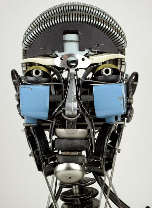 07-Jeremy Mayer-Typewriter-Robot-Sculptures-www-designstack-co