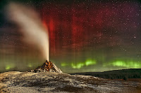 Aurora over White Dome Geyser
