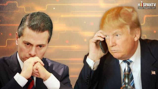 """Trump no se solidarizó con Peña Nieto por """"mala señal telefónica"""""""