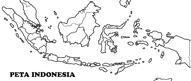 Gambar peta buta indonesia hitam putih hd