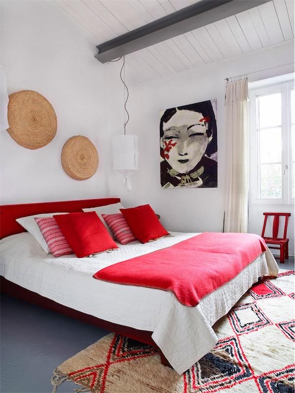 dormitorio en rojo chicanddeco