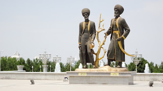 They are holding the wood of Turkmenistan