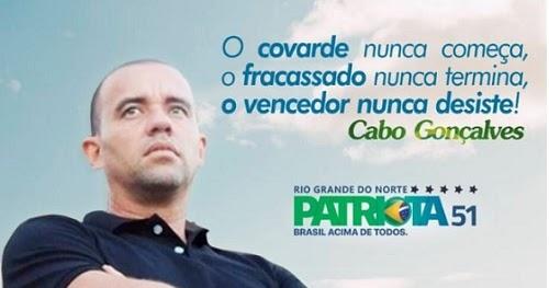 Resultado de imagem para cabo gonçalves candidato a deputado federal