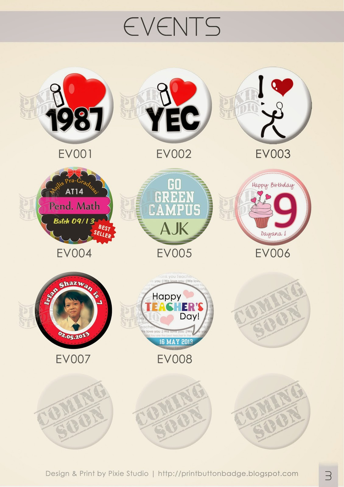 cetakan button badge | button badge printing