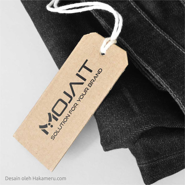 Desain logo untuk usaha konveksi pakaian Mojait - Jasa desain grafis online Hakameru