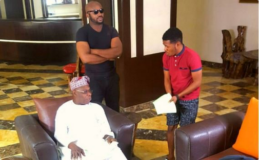 "Ex-president-Obasanjo-in-his-first-movie-as-he-features-in-Samuel-Ajibola's-""Dele-Issues"""