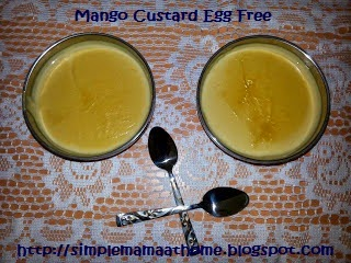 Mango Custard Egg Free