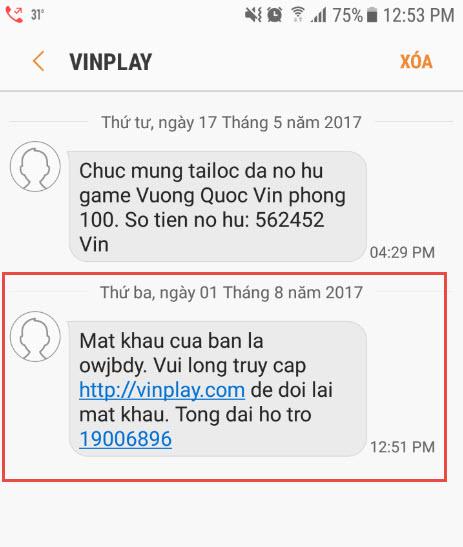 VinPlay Hướng dẫn khách hàng lấy lại mật khẩu đăng nhập - 200238